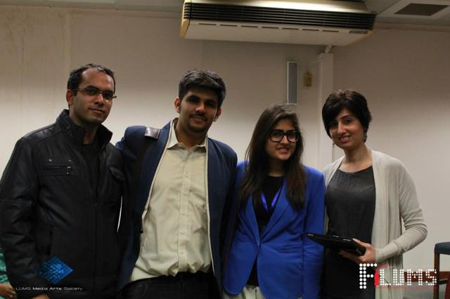 Team Galaxy Lollywood (Zeeshan Mahmood & Momin Ali Munshi) with Seema Hameed (Far right) -- Producer
