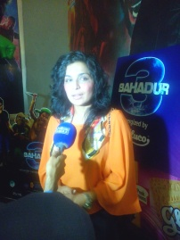 Meera also attended the premiere of 3 Bahadur.