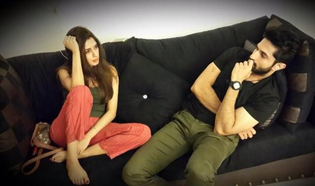 Jhol's early days. Actor Bilal Ashraf and Iman Ali (no more with the project) brainstorming.
